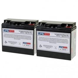 DSR PSJ1812 Pro Series Jump Starter 12V 22Ah F3 Compatible Replacement  Battery Set