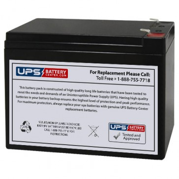 Jopower JP12-10 12V 10Ah F2 Battery