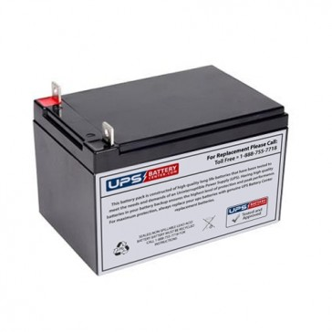 "12V 10Ah Sealed Lead Acid Battery Nut & Bolt Terminals 5.95"" x 3.86"" x 3.7"