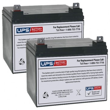Datex-Ohmeda 1000 Auxiliary Power Supply Batteries - Set of 2