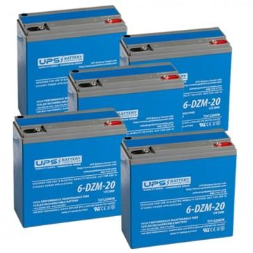 60V 20Ah 6-DZM-20 eBike Battery Set