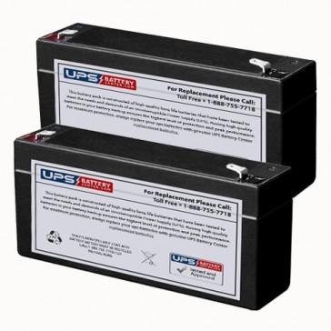 Cutter Medical Dependa Flo Volumetric Infusion Pump 888 Batteries - Set of 2