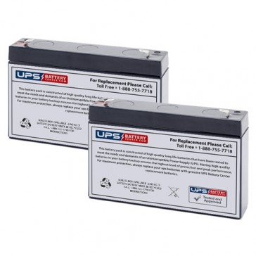 Impact Instrumentation 306 Portable Aspirator Batteries