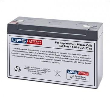 Pace Tech Vitalmax 2000 Pulse Oximeter 6V 10Ah Battery