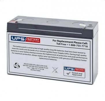PPG 603 Vital Signs Monitor 6V 10Ah Battery