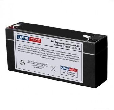 Pace Tech Inc Vitalmax 2200 ECG Monitor 6V 3Ah Battery