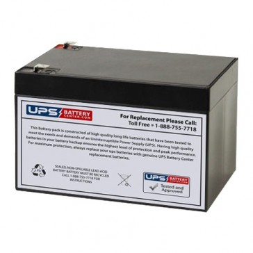 BB 12V 12Ah EB12-12 Battery with F2 Terminals