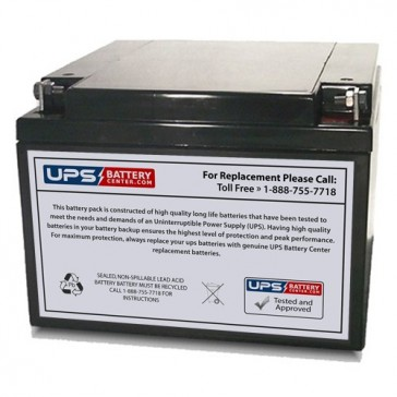 CBB 12V 26Ah NP26-12 Battery with F3 Terminals