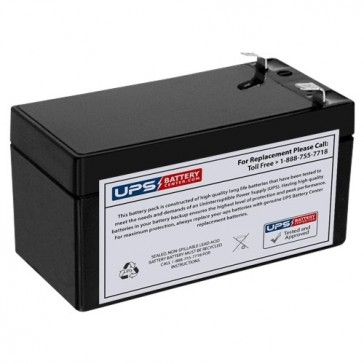 CCB Industrial 12V 1.3Ah 12MD-1.3 Battery with F1 Terminals