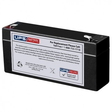 Cellpower 6V 3.2Ah CP 3.2-6 Battery with F1 Terminals