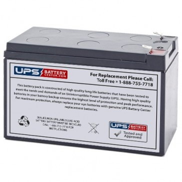 CSB 12V 7.2Ah GPL1272F2FR Battery with F2 Terminals