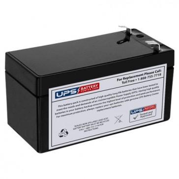 EaglePicher 12V 1.2Ah CF-12V1.3 Battery with F1 Terminals