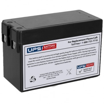 EaglePicher 12V 2.2Ah CF-12V2.2S Battery with F1 Terminals