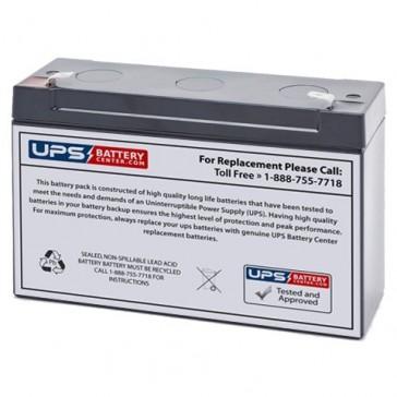EaglePicher 6V 12Ah HE-6V12.7FR Battery with F2 Terminals
