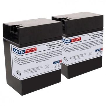 6M4 - Emergi-Lite/Kaufel 6V 13Ah Replacement Batteries