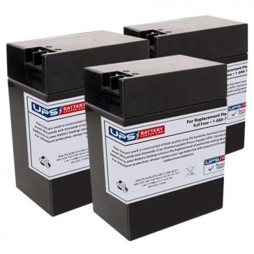 6M5 - Emergi-Lite/Kaufel 6V 13Ah Replacement Batteries