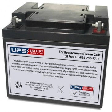 Energy Power 12V 40Ah EP-SLA12-40L Battery with F6 - Nut & Bolt Terminals