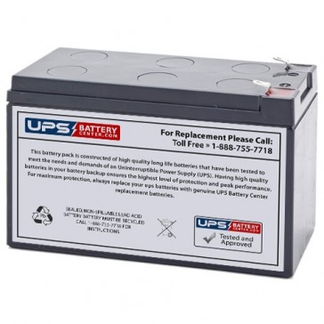 Energy Power 12V 7.2Ah EP-SLA12-7.2T2 Battery with F2 Terminals