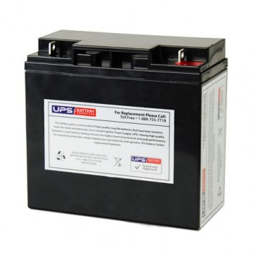 FirstPower FP12180L 12V 18Ah Battery with F3 - Nut & Bolt Terminals