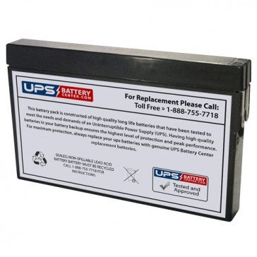Gaston 12V 2Ah GT12-2S Battery with Tab Terminals