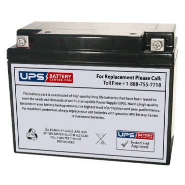Gaston 6V 20Ah GT6-20 Battery with F3 Terminals