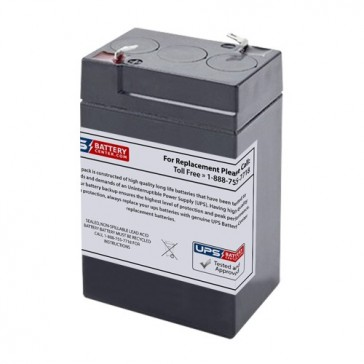 IBT 6V 4Ah BT4-6 Battery with F1 Terminals
