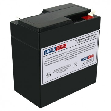 IBT 6V 6.5Ah BT6-6A Battery with F1 Terminals