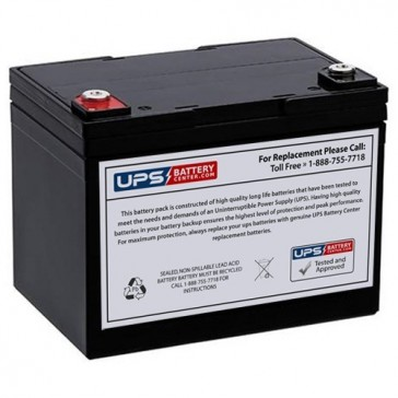 LCB 12V 35Ah ES30-12 Battery with F9 - Insert Terminals
