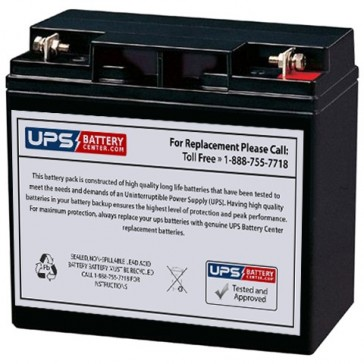 LCB 12V 22Ah UP12180W Battery with F3 - Nut & Bolt Terminals