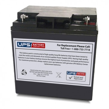 Leoch 12V 28Ah DJW12-24H Battery with F3 Terminals