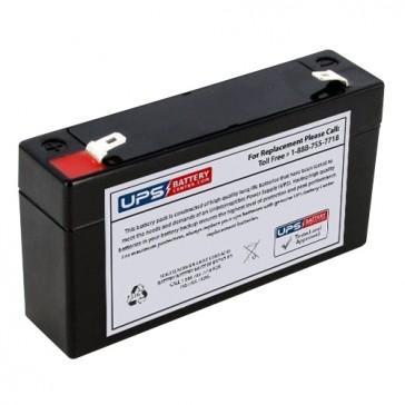 Leoch 6V 1.2Ah DJW6-1.2 Battery with F1 Terminals