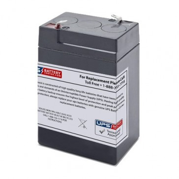 Leoch 6V 5Ah DJW6-5.0LH Battery with F1 Terminals