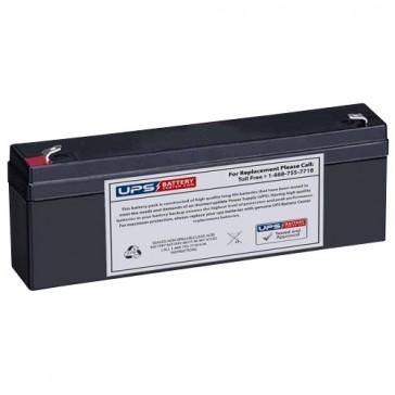 Leoch 12V 2.3Ah LP12-2.3 Battery with F1 Terminals