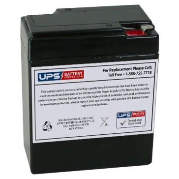 Leoch 6V 8.5Ah LP6-8.5H Battery with F1 Terminals
