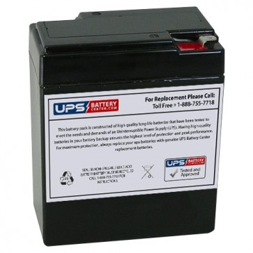 Leoch 6V 8.5Ah DJW6-8.5H Battery with F1 Terminals