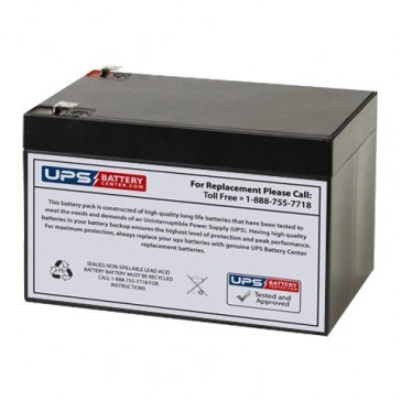 Leoch 12V 12Ah LPX12-12 Battery with F2 Terminals