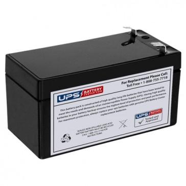 Leoch 12V 1.2Ah LP12-1.2 Battery with F1 Terminals