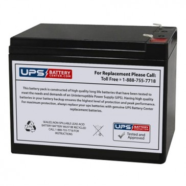 LongWay 12V 10Ah 6FM10A Battery with F2 Terminals