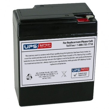 Magnavolt 6V 8.5Ah SLA6-8.5 Battery with F1 Terminals