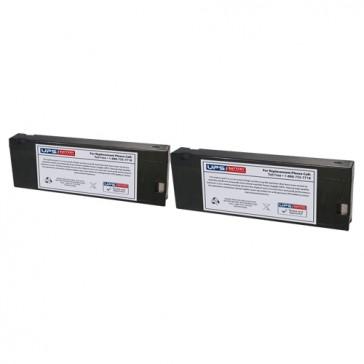 Philips M1205A Transport Monitor 12V 2.3Ah Medical Batteries - Set of 2