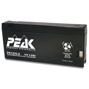 PK12V2.0PC Peak Energy 12V 2Ah Battery