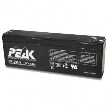 PK12V2.6F1 Peak Energy 12V 2.6Ah Battery