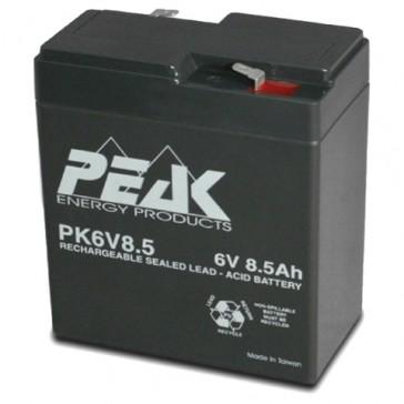 PK6V8.5F4 Peak Energy  6V 8.5 Ah Battery