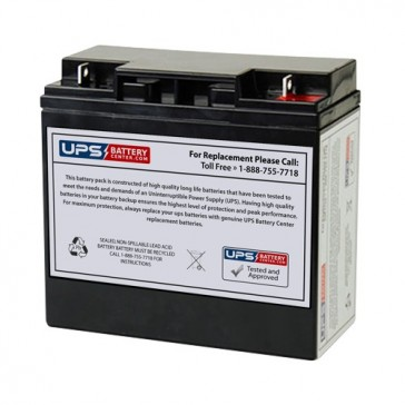 Sunnyway 12V 18Ah SW12160 Battery with F3 - Nut & Bolt Terminals