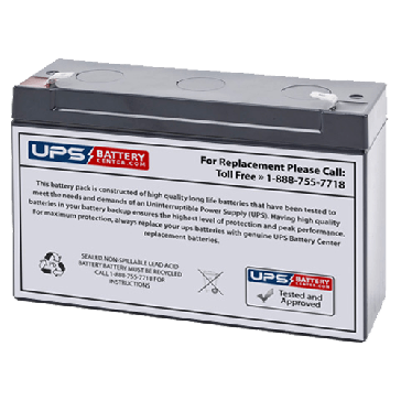 Sunnyway 6V 12Ah SW6140(II) Battery with F2 Terminals