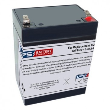 TLV1229R - 12V 2.9Ah Sealed Lead Acid Battery with F1 Terminals - Right Side Positive