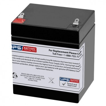 TLV1250F1 - 12V 5Ah Sealed Lead Acid Battery with F1 Terminals