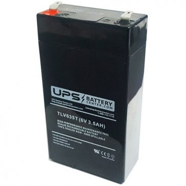 TLV635T - 6V 3.5Ah Sealed Lead Acid Battery with F1 Terminals