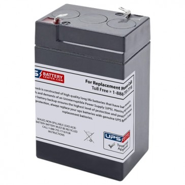 TLV645 - 6V 4.5Ah Sealed Lead Acid Battery with F1 Terminals