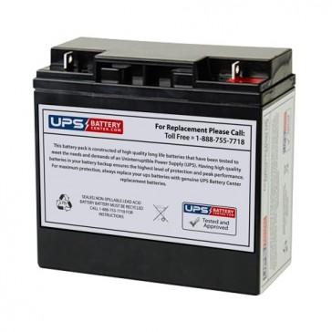 YT-12180D - Yuntong 12V 18Ah F3 Replacement Battery